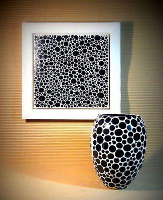 Mosaik Bild und Vase