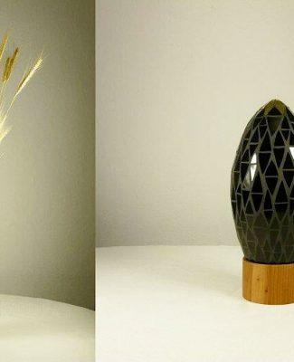 Mosaikobjekt/Vase schwarz