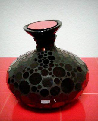 Mosaik Vase schwarz