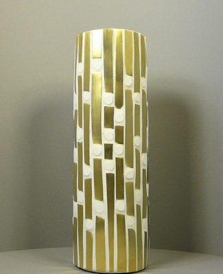 Gold/weiss Vase